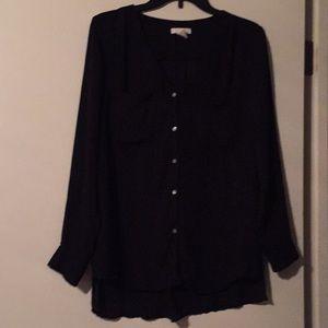 H&M Black Button-Up Blouse